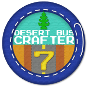 Desert Bus 7 Crafter badge